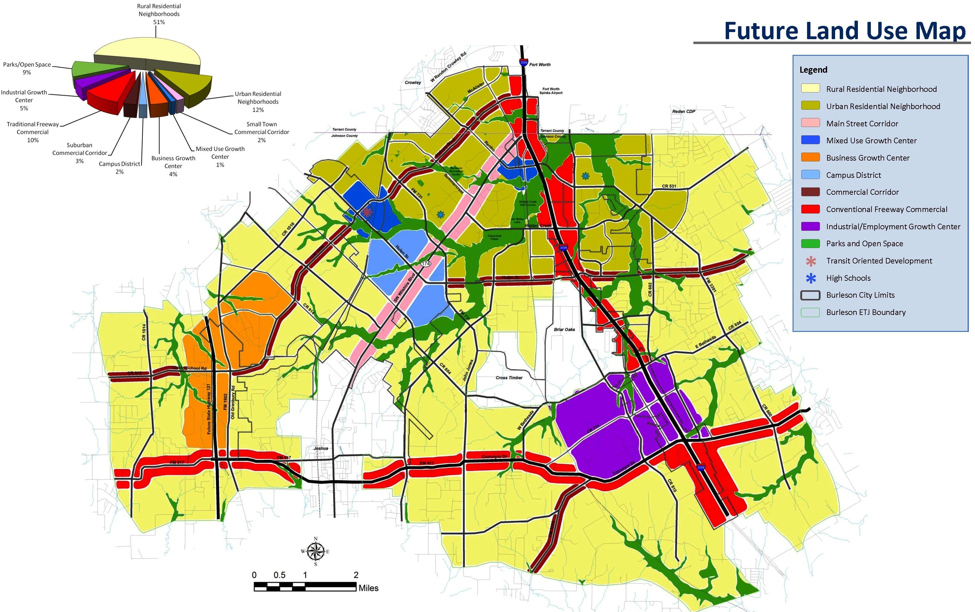 Map Of Burleson Texas