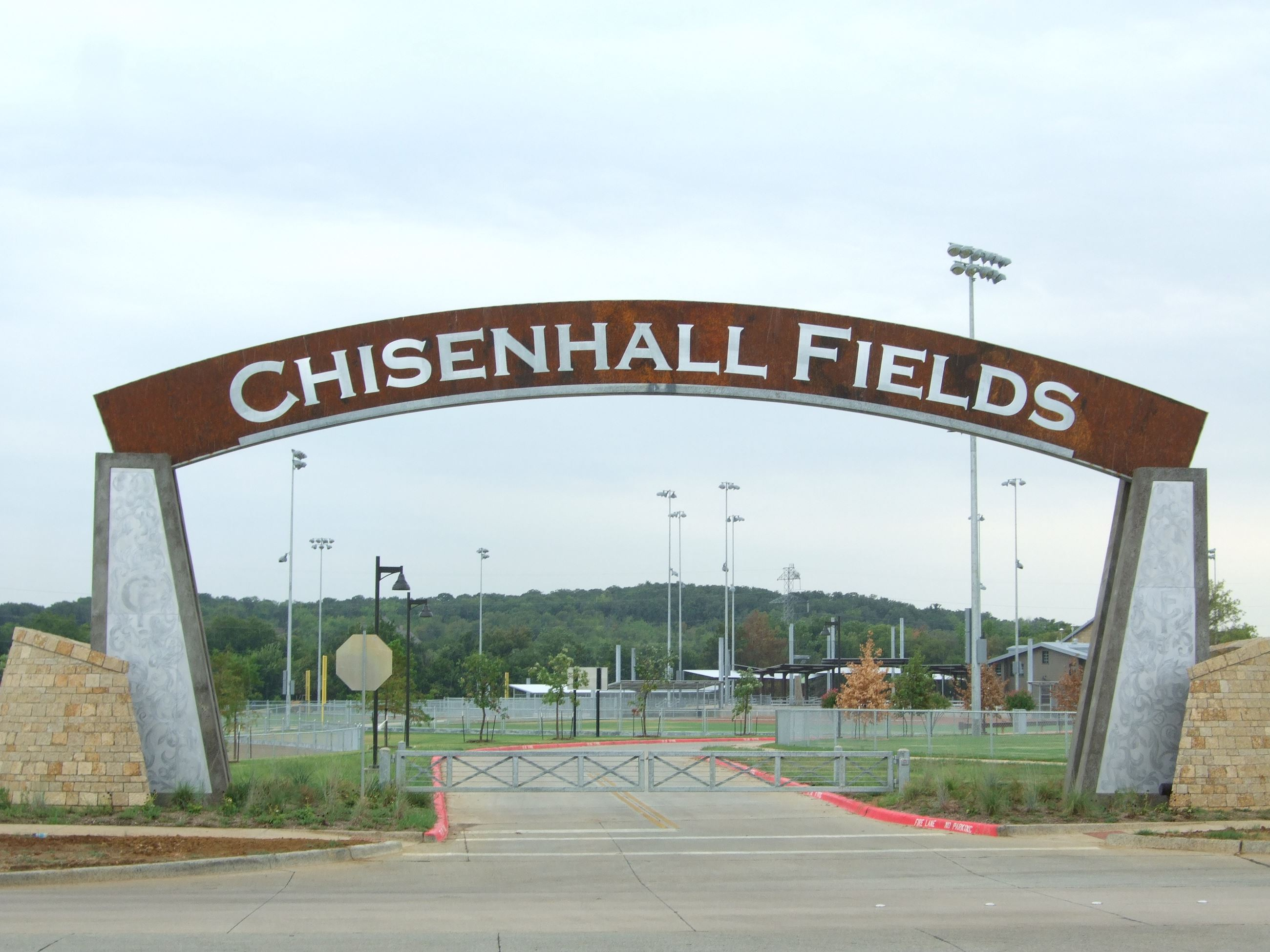 Chisenhall Fields arched entry sign - H