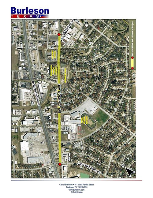 map of Johnson Ave water line renewal project