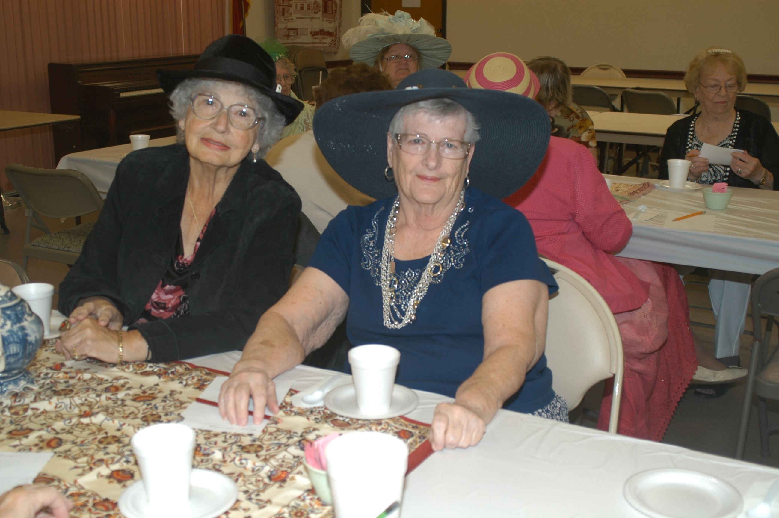 seniors enjoying tea