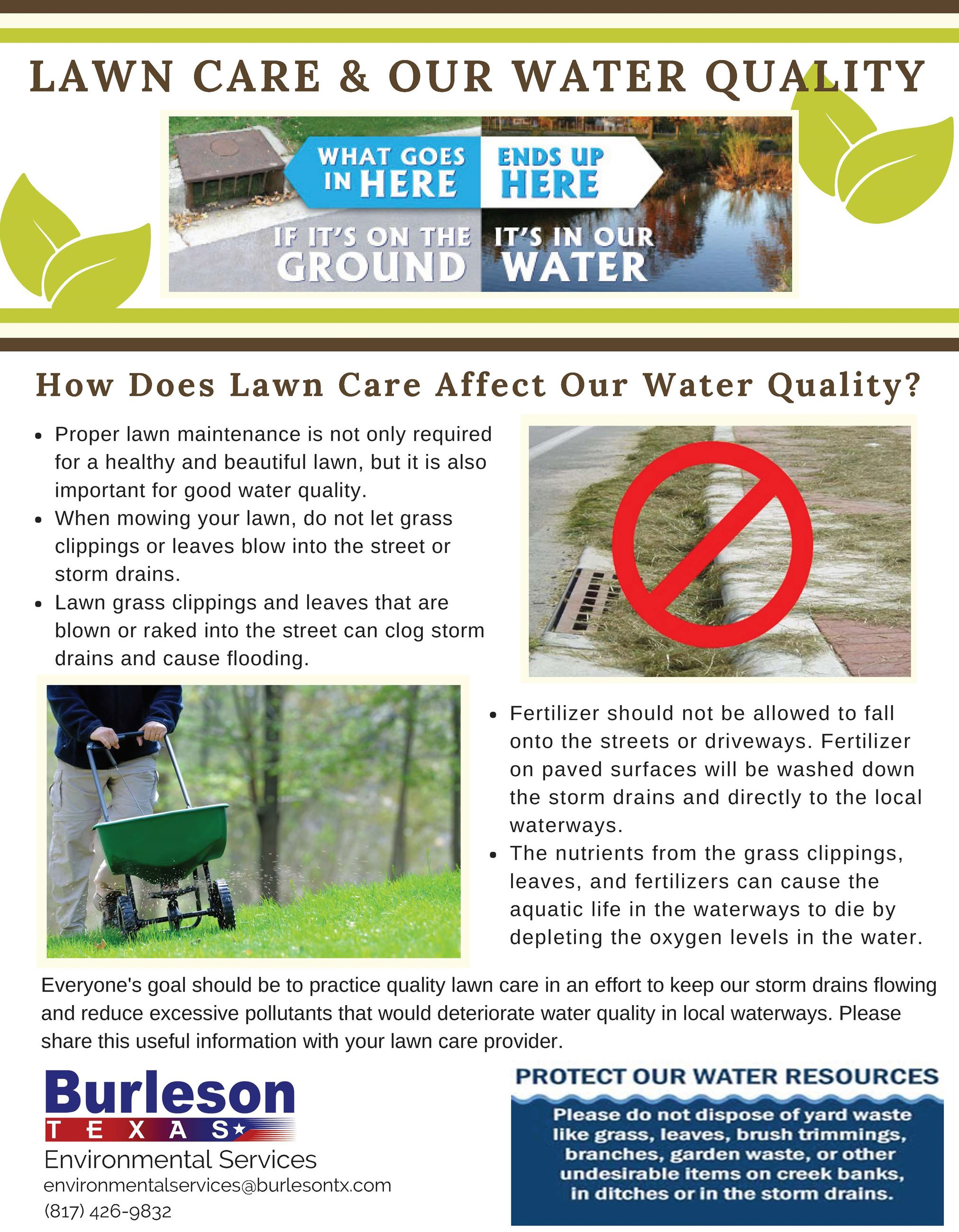 Lawn Care and Our Water Quality