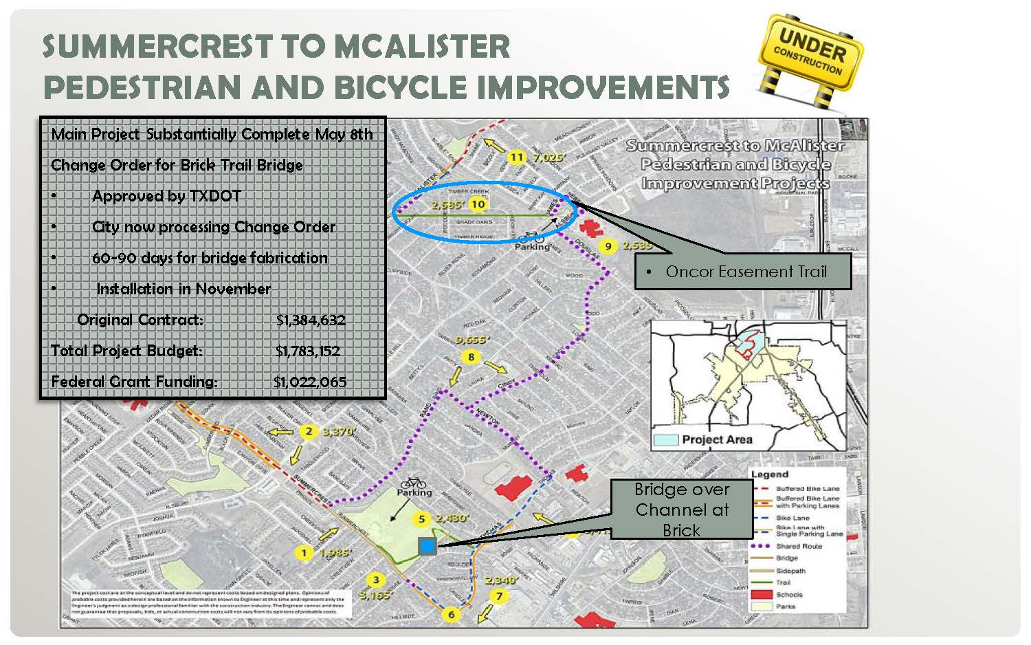 Summercrest to McAlister map