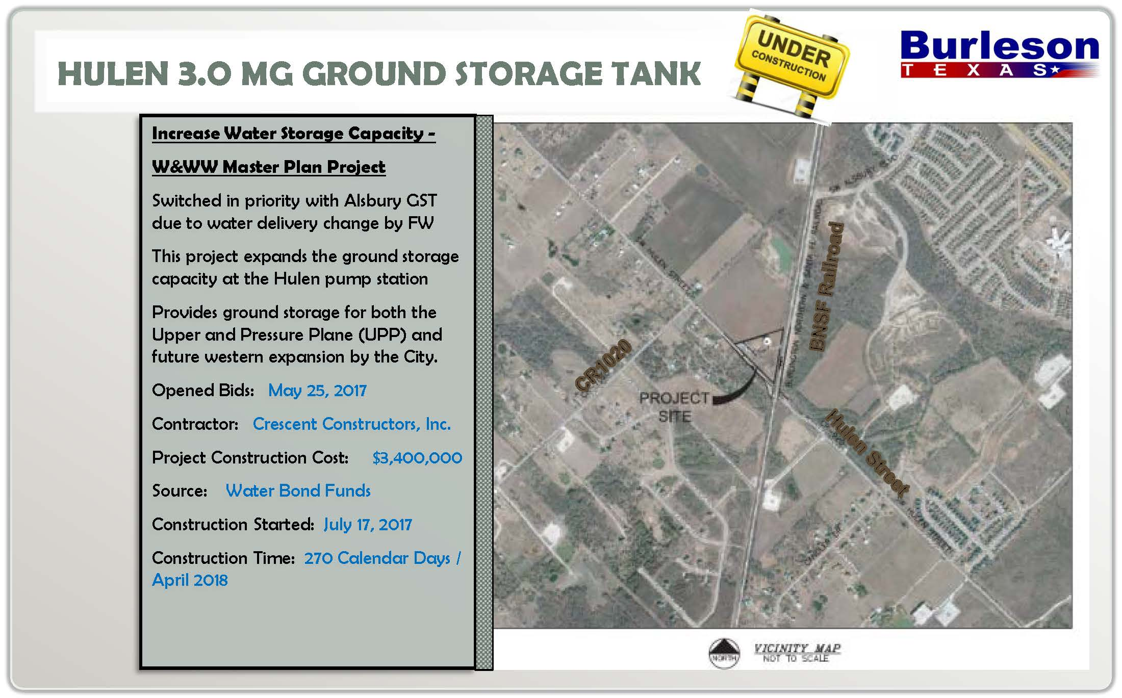 Hulen ground storage