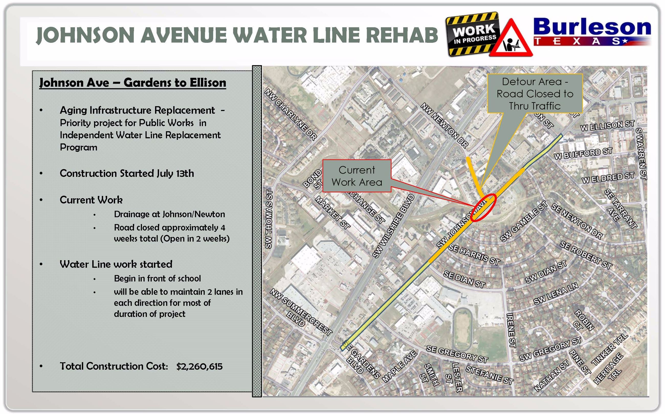 Johnson Ave Water Line Rehab map