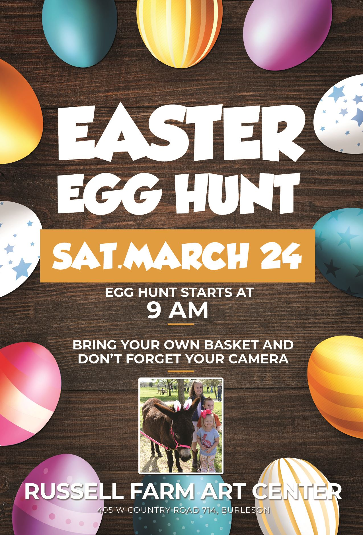 easter egg hunt at russell farm