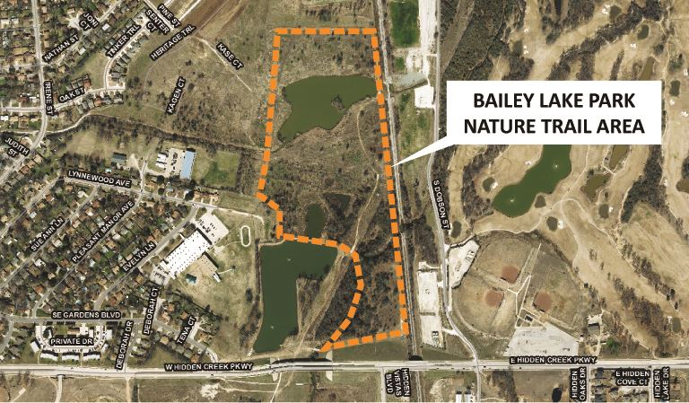 Bailey Lake Park Nature Trail Enhancement Map City Website 030918