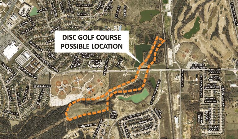 Disc Golf Course Project Map City Website 030918