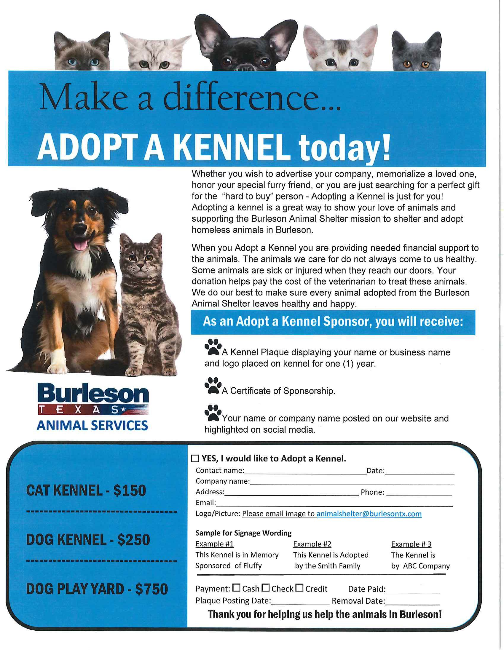 4.18 Adopt a Kennel Flyer