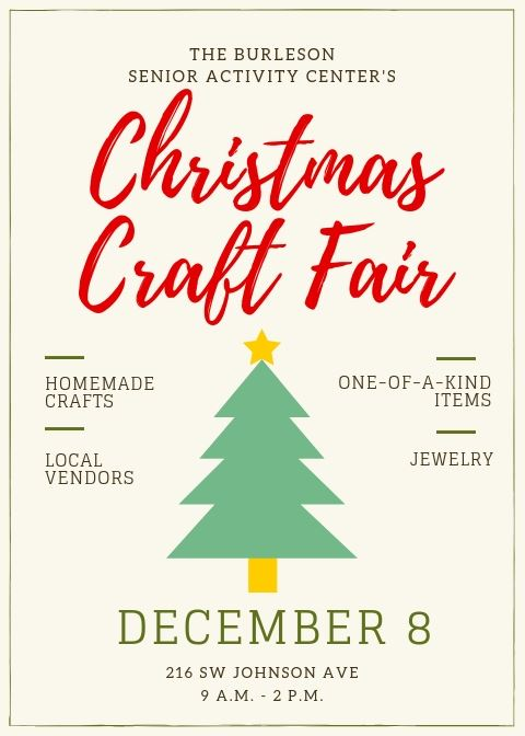 Christmas Craft Fair 2018 flyer