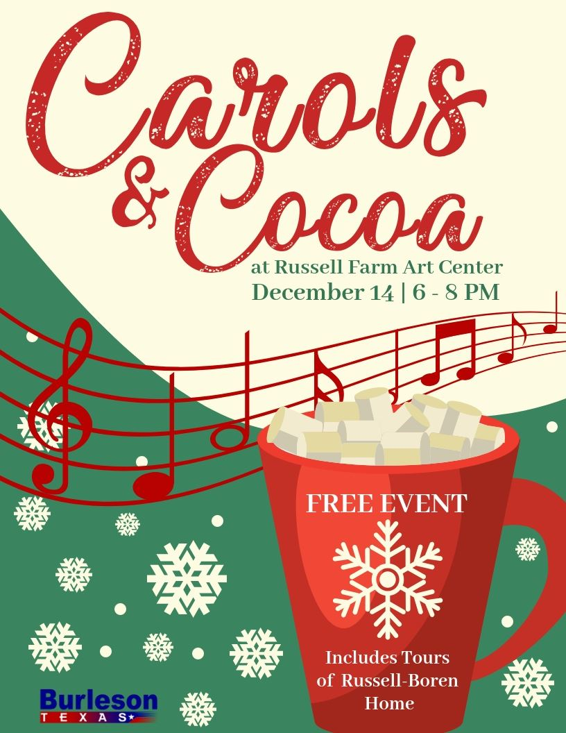 Carols and Cocoa flyer