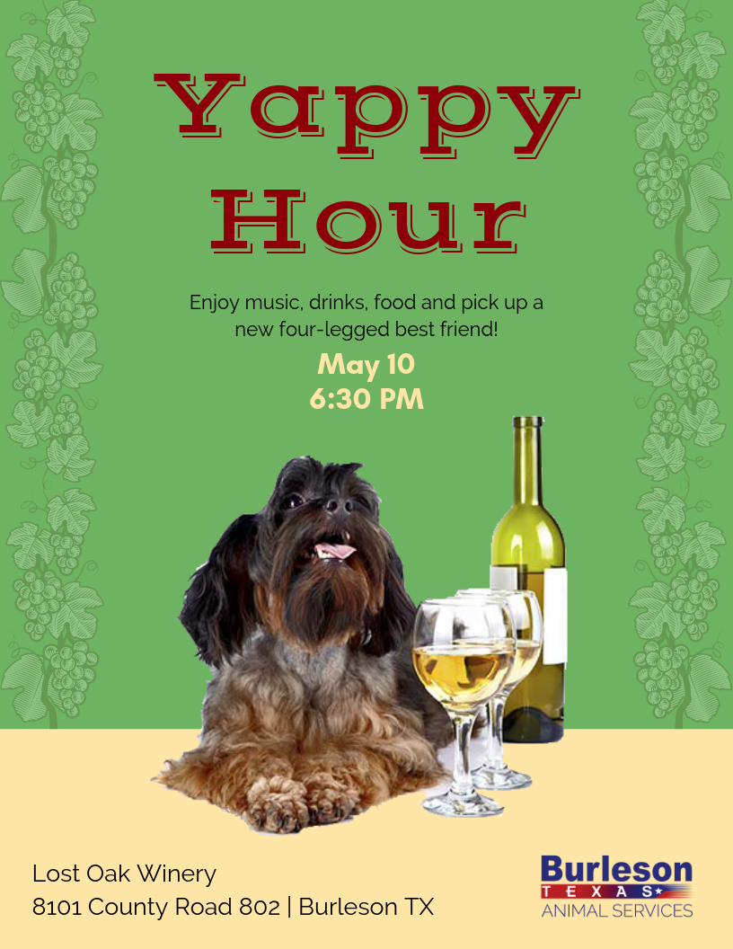 85d3a30fe66 Yappy Hour | Burleson, TX - Official Website