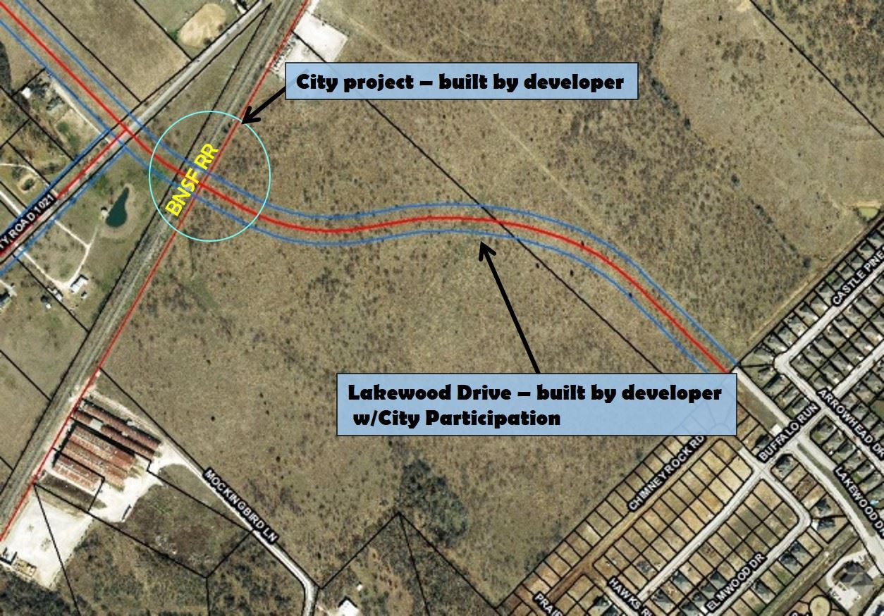 Lakewood extension map