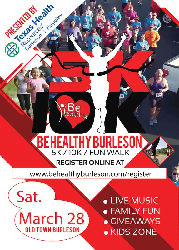 Be Healthy Burleson Run Flyer 2020