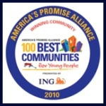 100 Best Communities winning seal for 2010