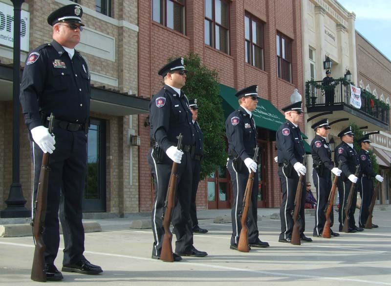 Police honor guardMilitary Vet Tribute 2012