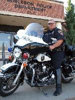 Photo of motorcycle officer